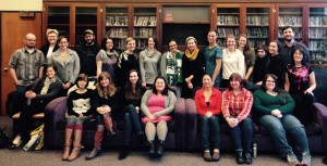Masters candidates in Book Publishing at Portland State University's Ooligan Press, the only trade press in the U.S.A. staffed entirely by students.