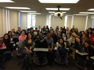 Our class with Facebook Head of Entertainment Kay Madati (center).