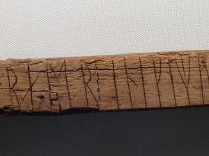 "The intensity & depth of the etching on this rune from 1170 struck me. I found the translation: ""I love that man's wife so much that fire seems cold! And I am that woman's lover."" Early mobile writing. Medieval post secret."