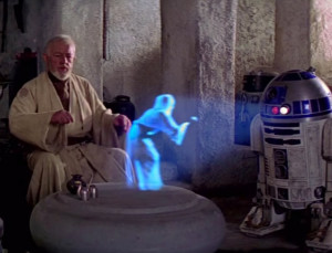 Everyone has seen a hologram.  This is the most famous one.
