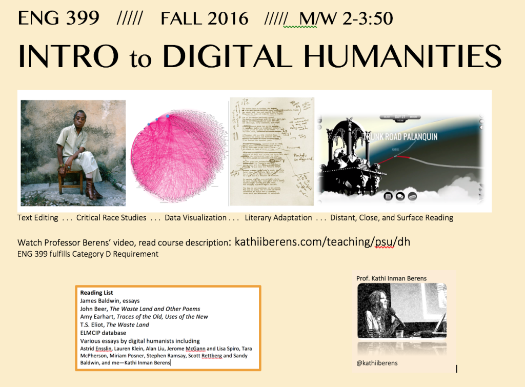 DH is a broad classification. Our focus is digital literary practice, history, and theory.